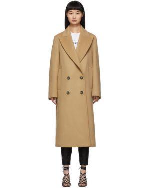 Długi płaszcz wełniany z kieszeniami Stella Mccartney