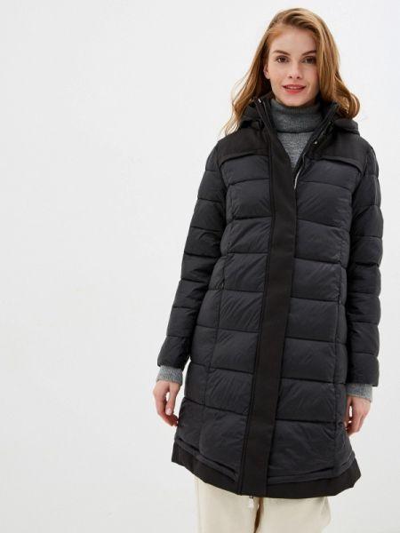 Утепленная куртка демисезонная черная Nice & Chic