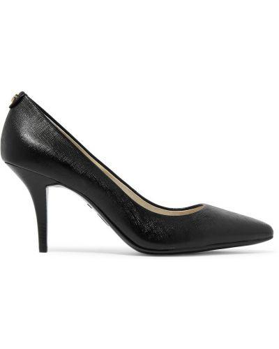 Черные кожаные туфли-лодочки с острым носом Michael Michael Kors