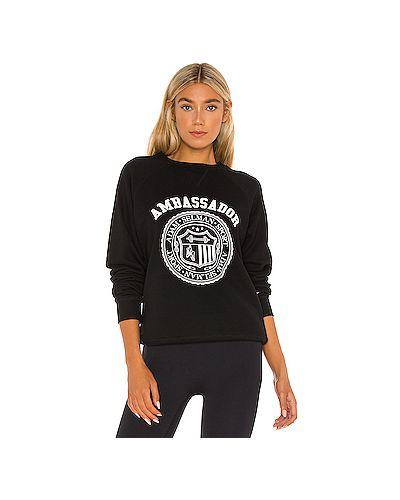 Черный спортивный свитер крупной вязки из футера Adam Selman Sport