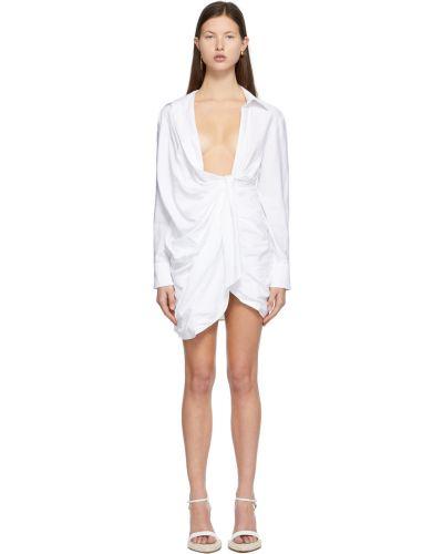 Sukienka długa z długimi rękawami - biała Jacquemus