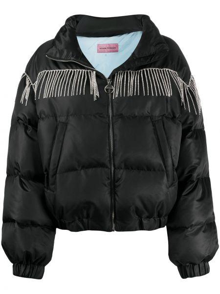 Черная длинная куртка с манжетами с карманами с длинными рукавами Chiara Ferragni