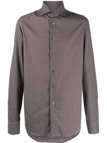 Koszula z długim rękawem klasyczna prosto Dell'oglio