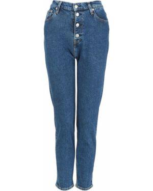 Джинсы с высокой посадкой скинни синие Calvin Klein Jeans