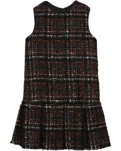 Коричневое платье твидовое с подкладкой Dolce & Gabbana