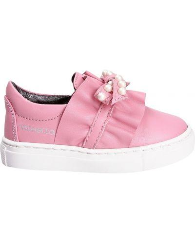 Слипоны розовый Simonetta Mini
