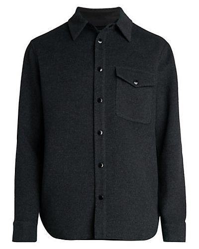 Czarna koszula z długimi rękawami wełniana Rag & Bone