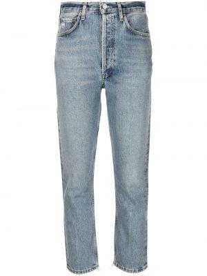 Хлопковые джинсы с нашивками классические Agolde