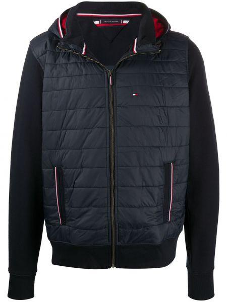 Классическая синяя куртка с капюшоном с вышивкой с карманами Tommy Hilfiger