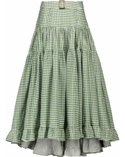 Zielona spódnica maxi bawełniana Alexandra Miro