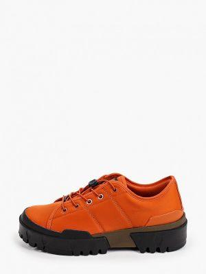 Оранжевые текстильные ботинки Onitsuka Tiger