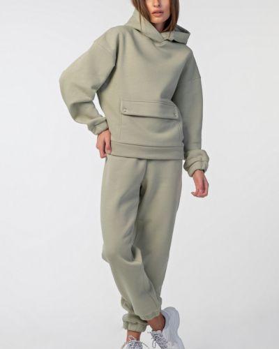 Костюмный брючный костюм из футера свободного кроя с начесом Fly