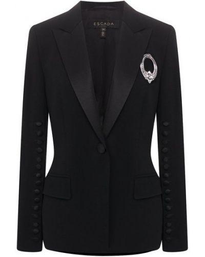 Пиджак с подкладкой на пуговицах из вискозы Escada