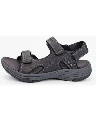 Серые кожаные сандалии Strobbs