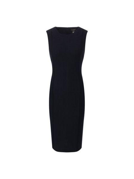 Шерстяное платье - синее St. John