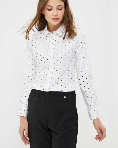 Белая рубашка с длинным рукавом Springfield