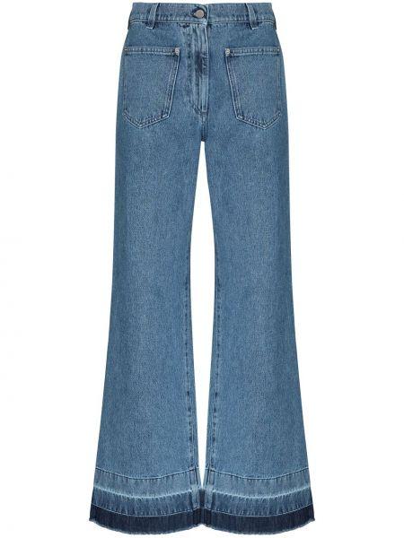 Расклешенные синие джинсы с карманами Jw Anderson