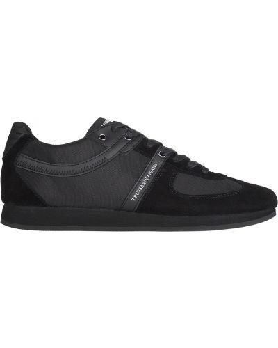 Черные кроссовки Trussardi Jeans