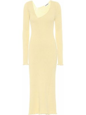 Платье миди шерстяное желтый Jil Sander