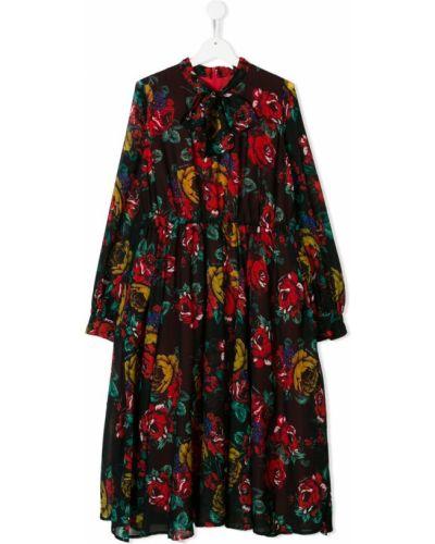 Платье с рукавами плиссированное черное Marco Bologna Kids