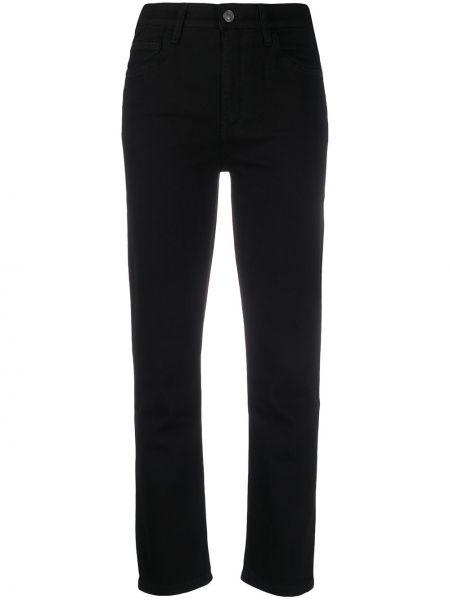 Укороченные джинсы черные на пуговицах Current/elliott
