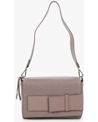 Коричневая сумка из натуральной кожи Eleganzza