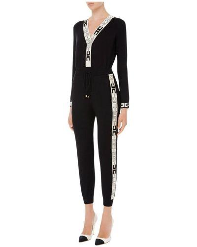 Czarny garnitur elegancki Elisabetta Franchi