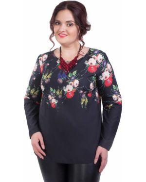 Блузка прямая черная Wisell