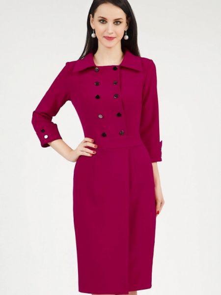 Повседневное платье розовое осеннее Grey Cat
