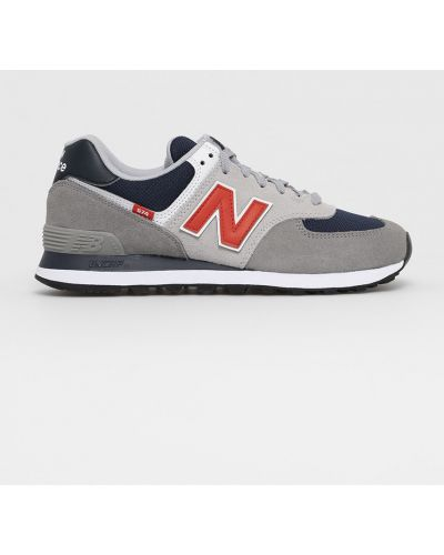 Szare sneakersy skorzane sznurowane New Balance