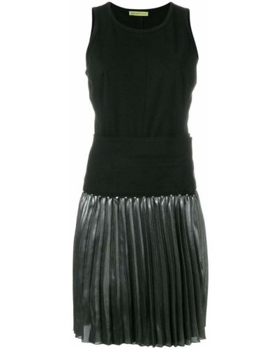 Приталенное черное джинсовое платье Versace Jeans