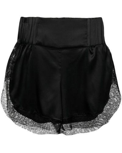 Ажурные черные шорты Almaz