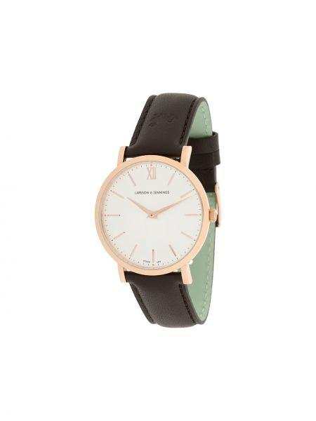 Кварцевые часы с круглым циферблатом коричневый Larsson & Jennings