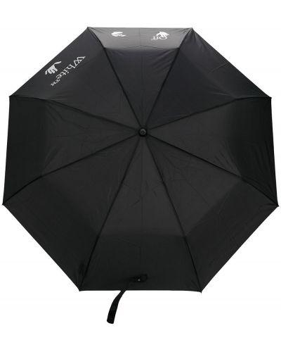 Czarny parasol z printem Off-white