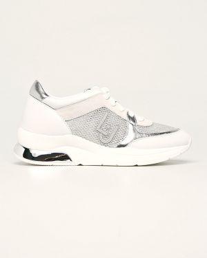 Кожаные кроссовки замшевые текстильные Liu Jo