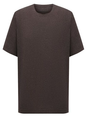 Коричневая хлопковая футболка Capobianco