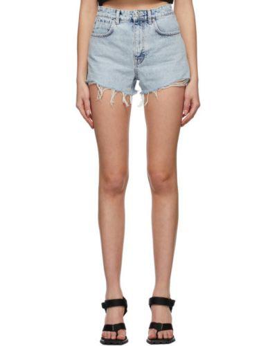 Пляжные синие джинсовые шорты с карманами Alexander Wang
