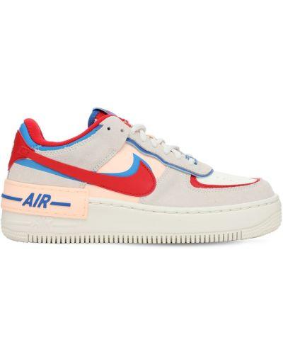 Ażurowy skórzany sneakersy na sznurowadłach Nike