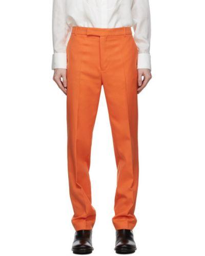 Pomarańczowe złote spodnie z paskiem Palomo Spain
