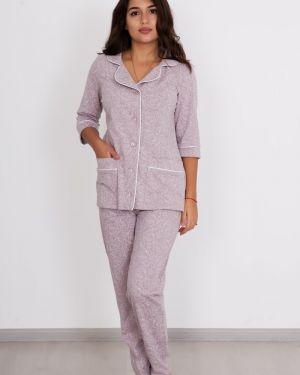 Пижама с брюками свободная на пуговицах Lika Dress