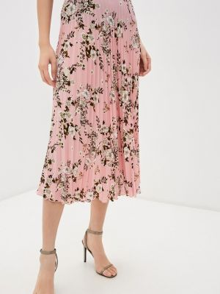 Плиссированная юбка розовая весенняя Elardis