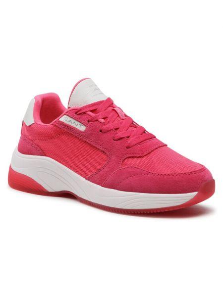 Różowe sneakersy Gant