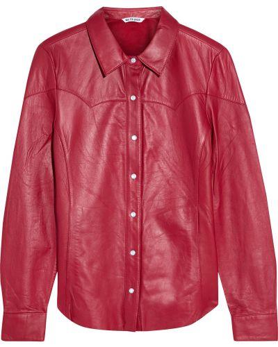 Оранжевая кожаная рубашка с карманами Walter Baker