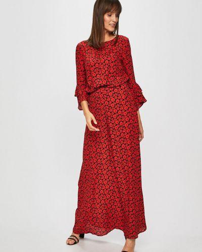 Джинсовое платье из вискозы расклешенное Trussardi Jeans