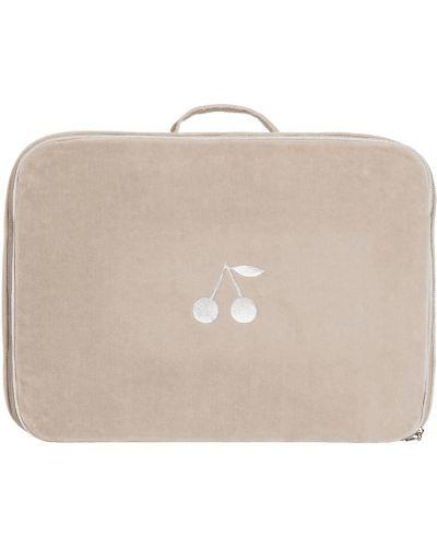 Хлопковая серая сумка с аппликациями Bonpoint