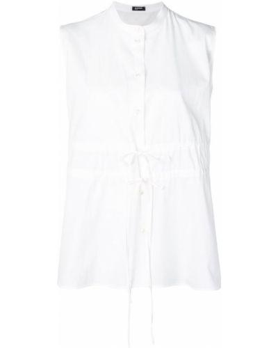 Рубашка белая без воротника Jil Sander Navy