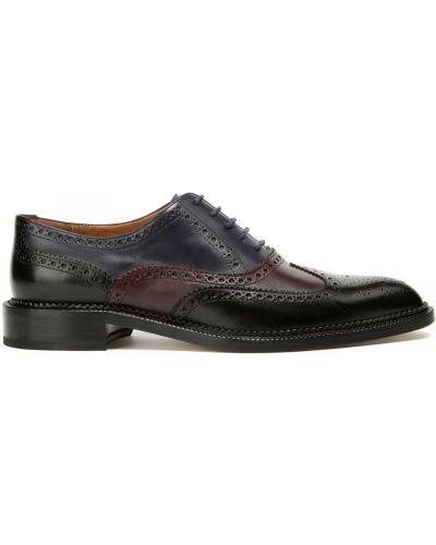 Кожаные туфли закрытые на шнуровке Fratelli Rossetti
