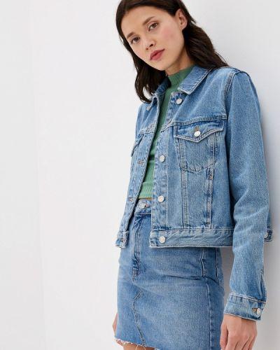 Джинсовая куртка осенняя синий Topshop