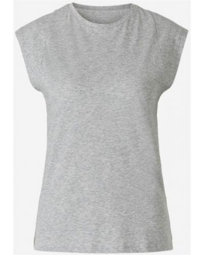 Szary t-shirt bez rękawów Frame