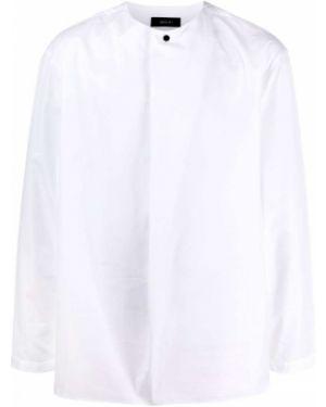 Bawełna z rękawami biały prosto tunika z długimi rękawami Qasimi